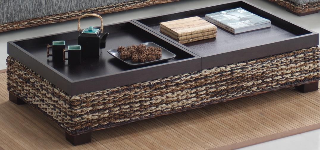 12 mesas de centro for Bandejas de madera