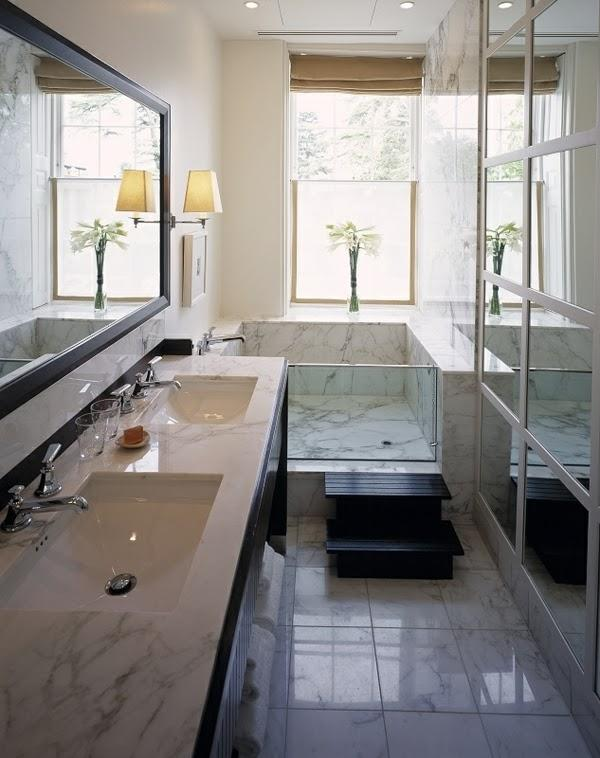 Ba os peque os for Bathroom ideas long narrow space