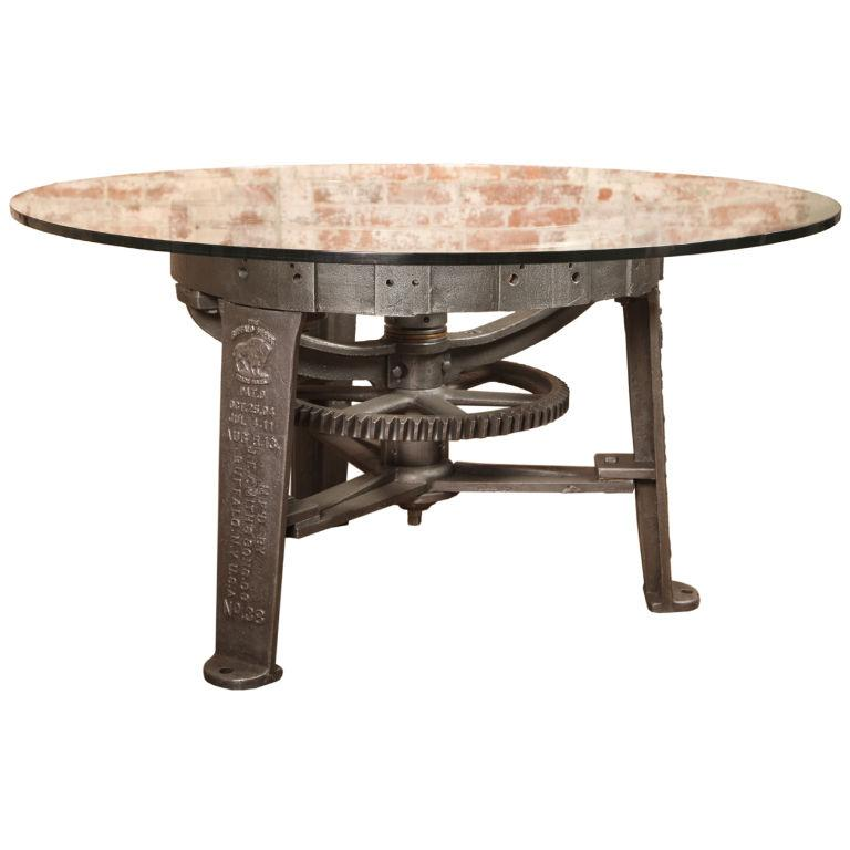 Table Round Industrial Coffee Table Gratifying Ballard: 20 Originales Objetos, Con Engranajes Decorativos