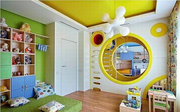 Colorista y divertida habitación doble