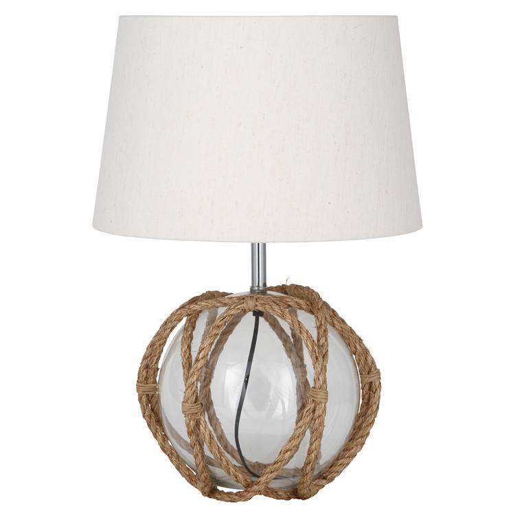 Lámpara de mesa con cristal y cuerda