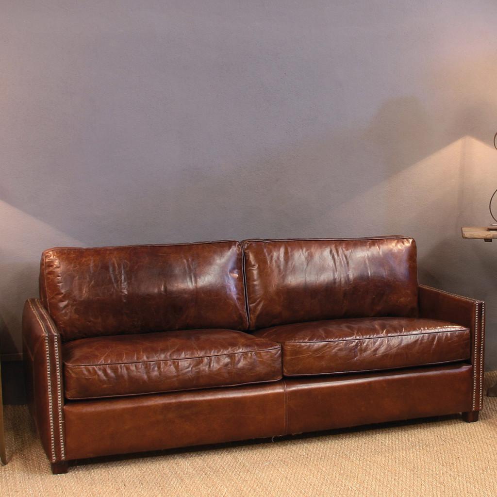 10 sof s vintage de piel no te tumbas - Sofa de piel ...