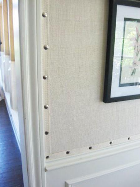 Magn ficas decoraciones con tela de saco for Paredes tapizadas