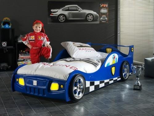 Una habitación infantil, como un circuito de carreras
