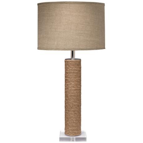 Lámpara de mesa de metacrilato y cuerda