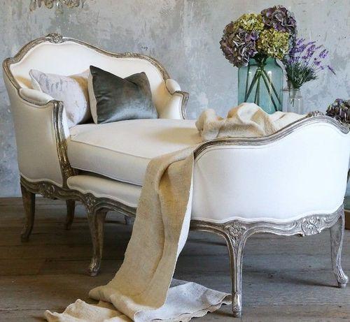 Chaise longue clásica, de estilo Luis XVI