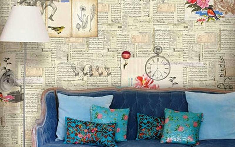 Papel pintado para vestir tus paredes te atreves - Papel empapelar paredes ...