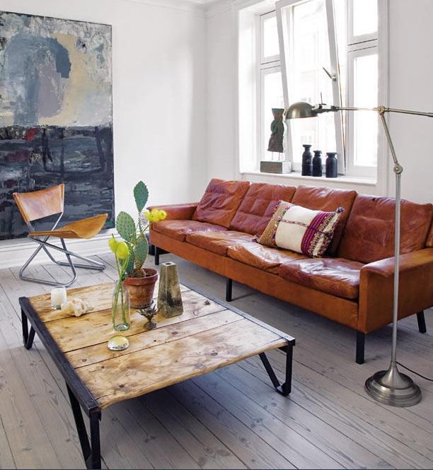 10 sof s vintage de piel no te tumbas - Sofa piel vintage ...