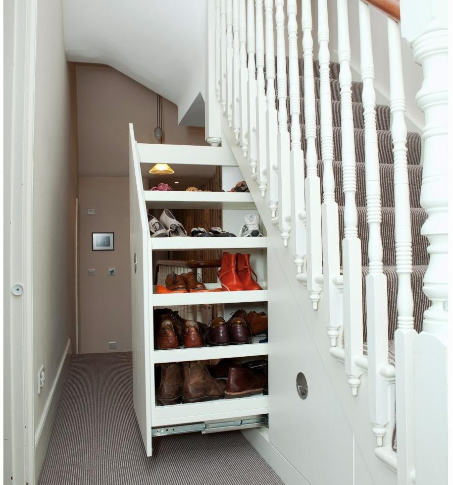 Zapateros o como ahorrar espacio for Closet en escaleras