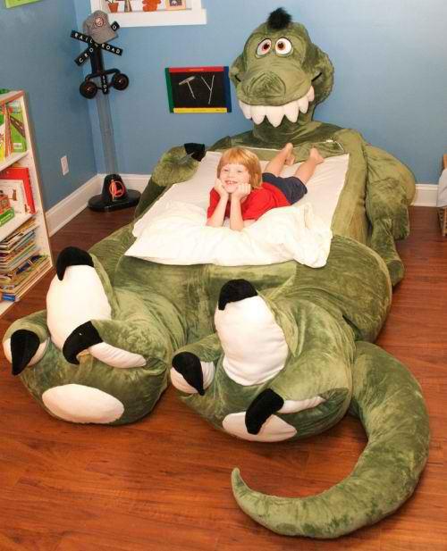 Un divertido dragón como original cama