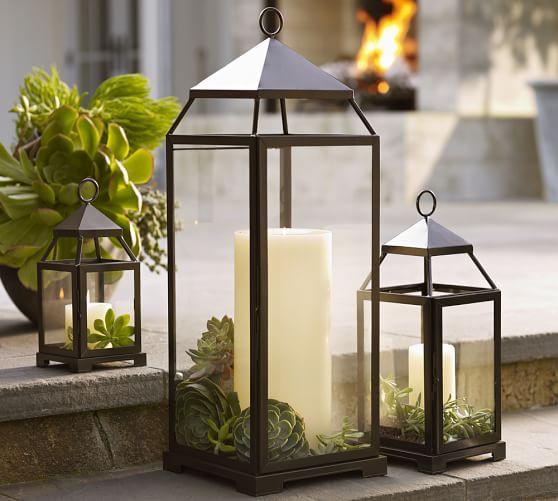Farol de jardín de sencillo diseño