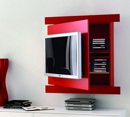 Muebles para tv for Recamara pequena minimalista
