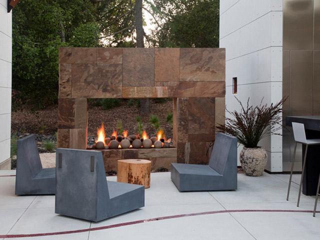 22 fabulosas chimeneas de exterior - Chimenea de exterior ...