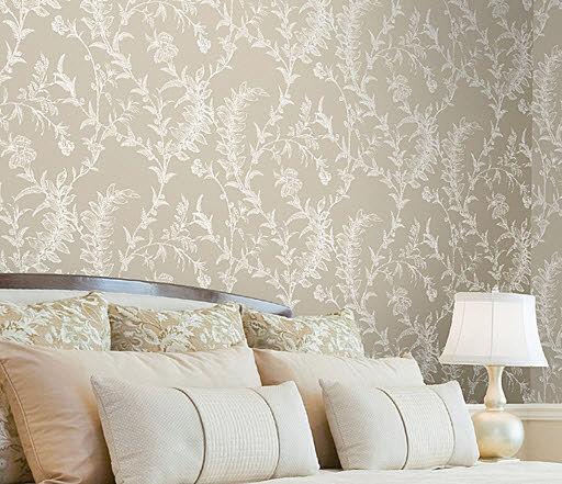 Papel pintado para vestir tus paredes te atreves - Papel pintado blanco y plata ...
