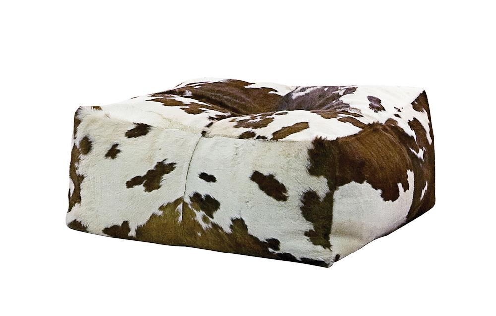 Piel de vaca los tapizados m s originales - Puf con respaldo ...