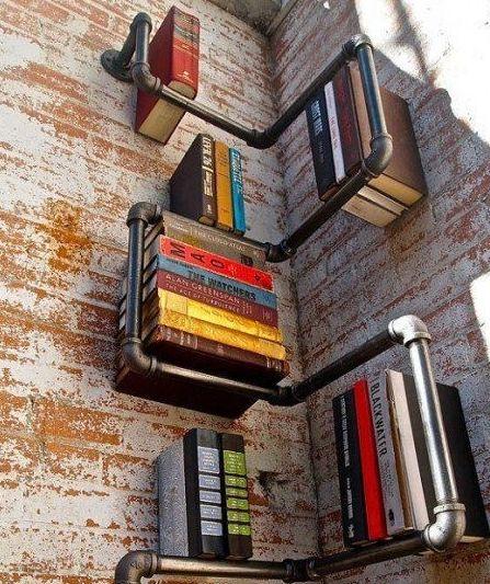 Original librería en esquina.