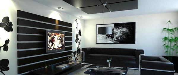 15 salones en blanco y negro - Decoracion salon blanco y negro ...