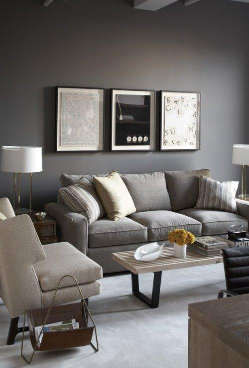 Gris 14 ideas para decorar el sal n for Sofas grises decoracion