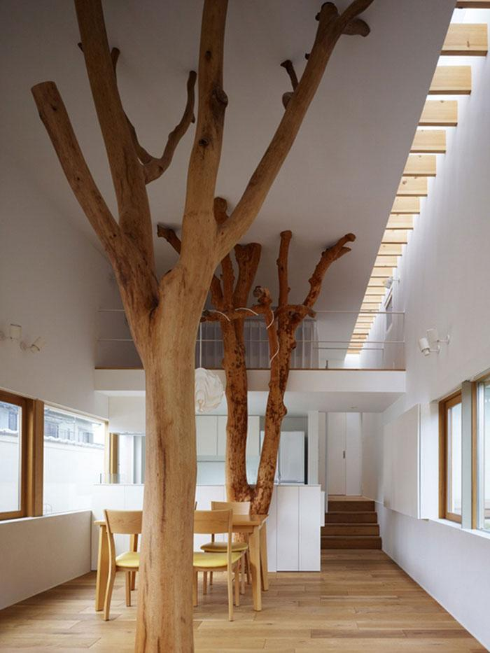Dos enormes troncos de árbol.