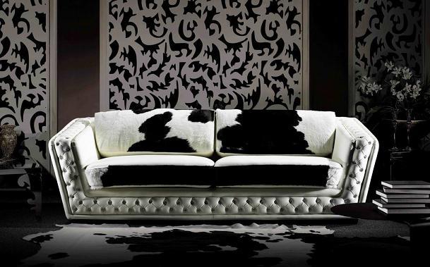 Piel de vaca los tapizados m s originales for Sofas modernos tapizados