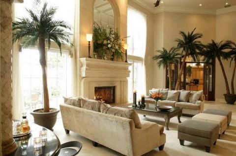 Un oasis de palmeras.