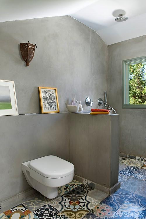Baldosas Hidraulicas Baño:Cuarto de baño, con baldosas hidráulicas