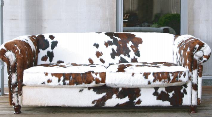 Piel de vaca, los tapizados más originales. | Decorar.net