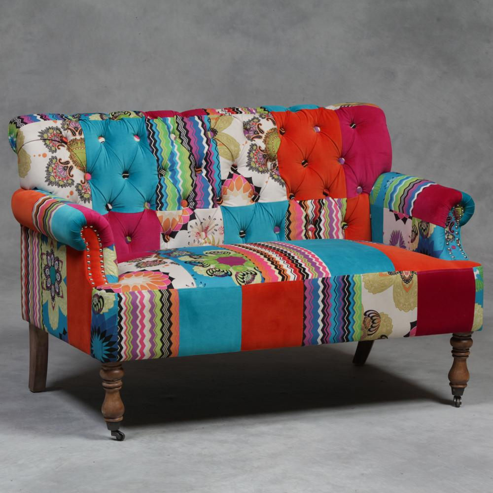 Patchwork colorista en tus muebles preferidos for Sofa patchwork