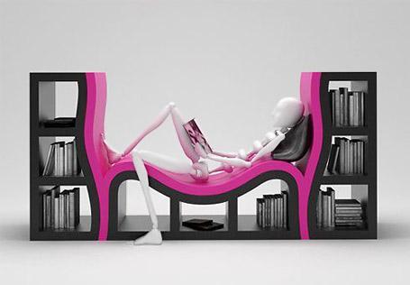 Con espacio para sentarse a leer.