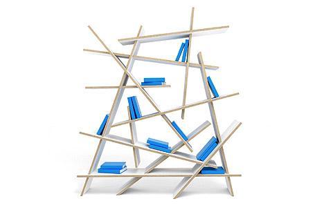 Un diseño con tablas sin ninguna simetría.
