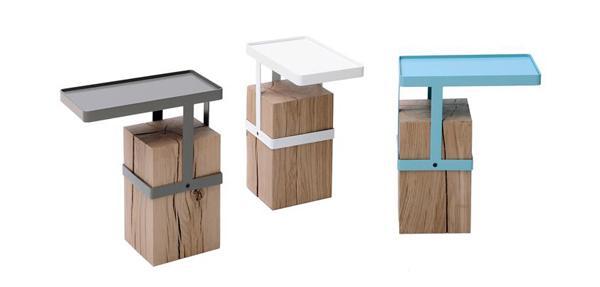 El modelo Tandem de Roche- Bobois, de madera y metal.
