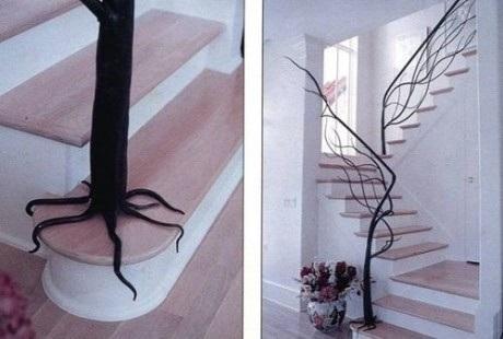 Con formas que imitan la naturaleza.