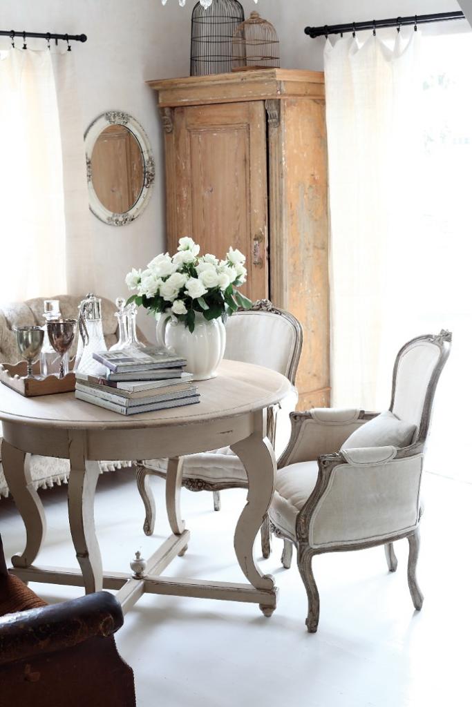 Comedor de marcado estilo vintage francés.