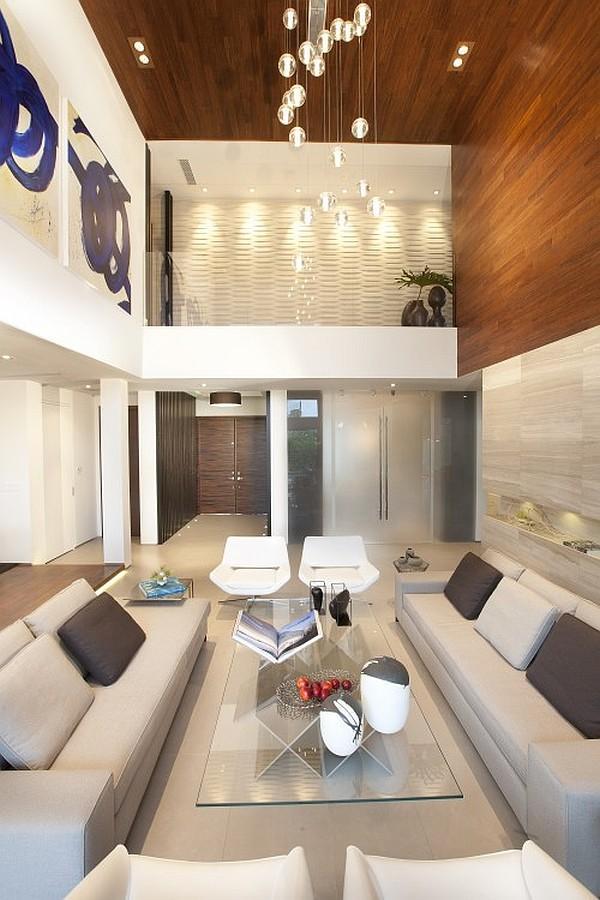 Un elegante salón de estilo contemporáneo.