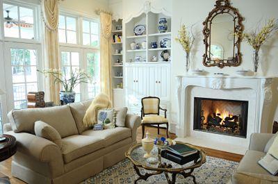 Decoración de estilo Cottage, en tonos neutros.