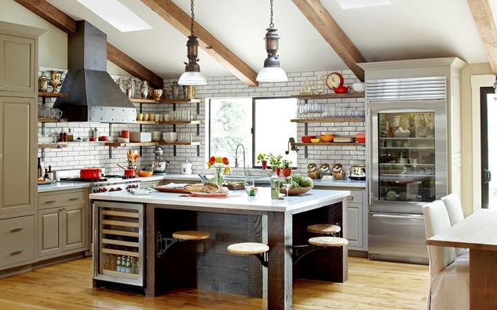 Grandes cocinas de estilos eclécticos. | Decorar.net