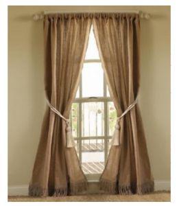 18 cortinas con tela de saco