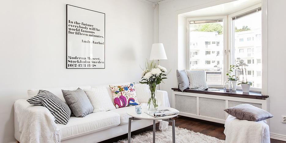 Blanco por todas partes - Ikea piso 50 metros ...