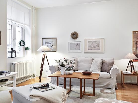 Blanco por todas partes for Salon blanco y madera