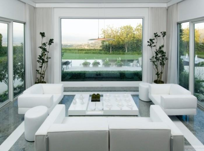 All White Furniture Design Suelo Gris Y Mobiliario Paredes En Blanco