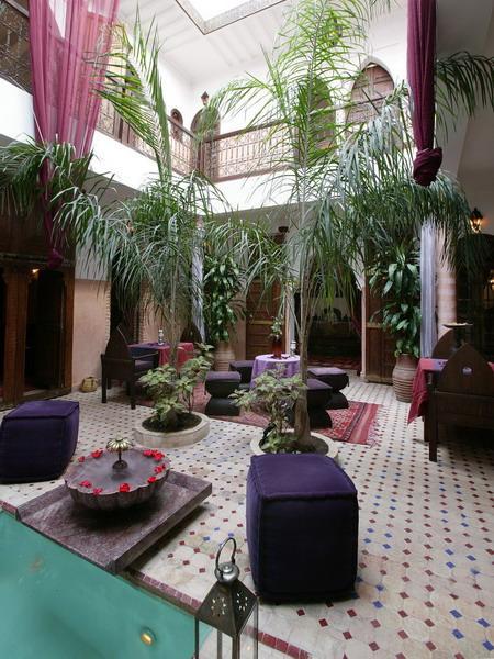 Situado en un relajante riad marroquí.