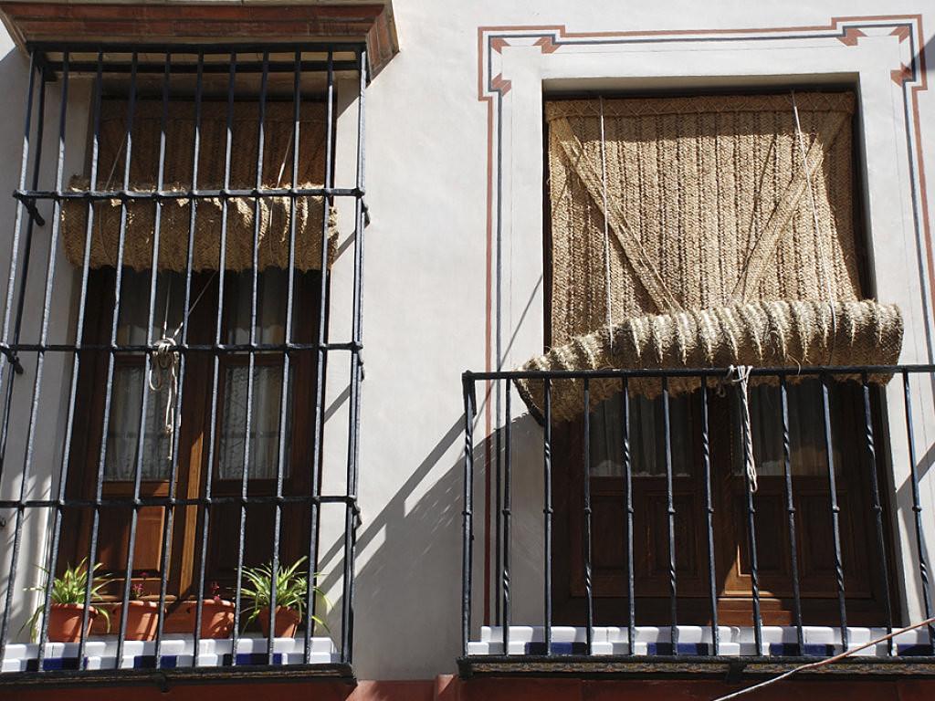 Esterones la artesan a de la sombra for Estores puerta balcon