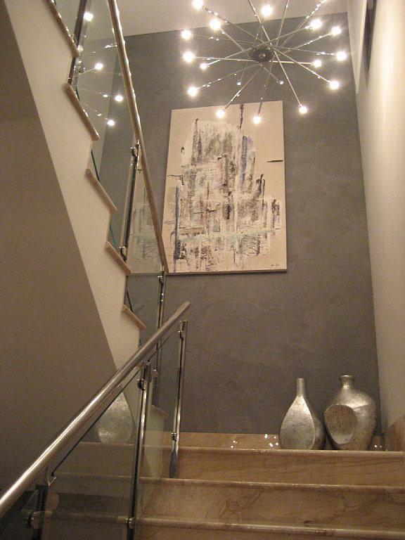 Lamparas hueco escalera mesa para la cama - Huecos de escalera ...