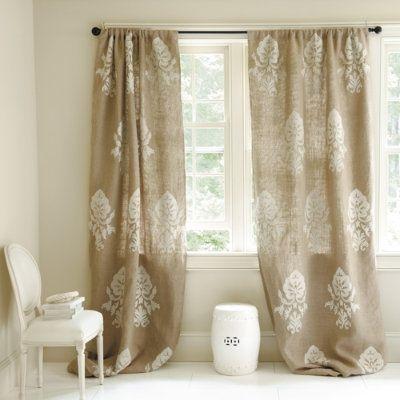 18 cortinas con tela de saco for Cortinas de tela de saco