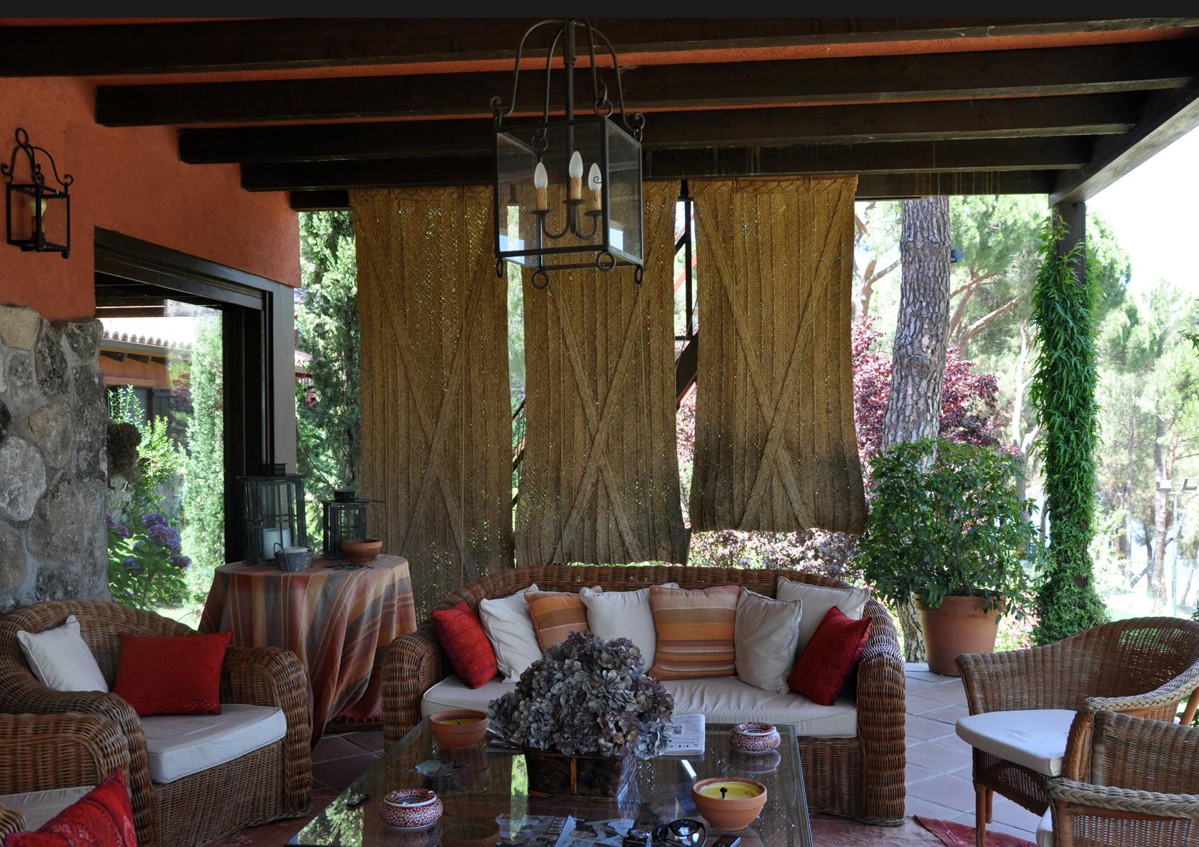 Esterones la artesan a de la sombra for Cortinas exteriores para porches