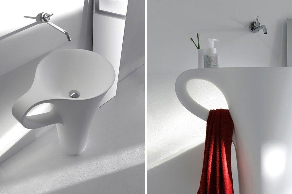Divertido diseño con forma de taza.