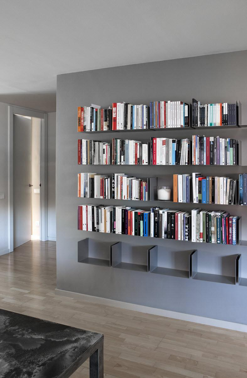 Estanter as funcionalidad y est tica - Estanterias metalicas para libros ...