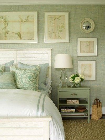 Verde salvia fresco neutro y muy elegante - Salones con papel pintado ...