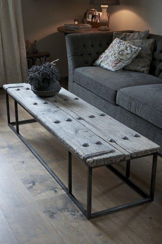 Muebles de madera lavada for Mesas con puertas antiguas