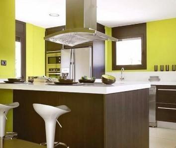 Cocinas modernas viva el color - Colores paredes cocina ...